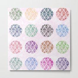 Colorful Geometric II Metal Print