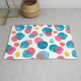 Colour mixing splotches Rug