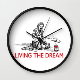 Living the Dream Wall Clock