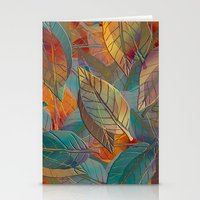 andreas preis Stationery Cards featuring Autumn Pattern by Klara Acel