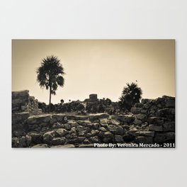 The ruins at Tulum Canvas Print