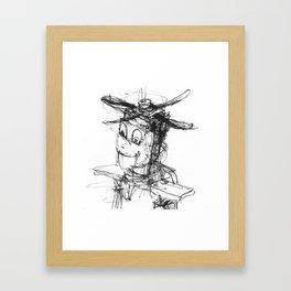 HAPPY ROBOT Framed Art Print