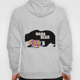 Mama Bear Autism Awareness Support Hoody