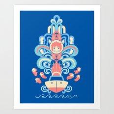 Ponyo Deco Art Print