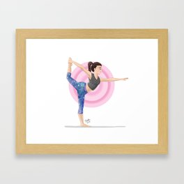 Dancer's Pose Framed Art Print