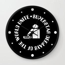 DeeJays Unite EDM Quote Wall Clock