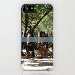 Line of People iPhone Case