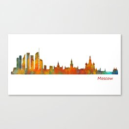 Moscow City Skyline art HQ v1 Canvas Print