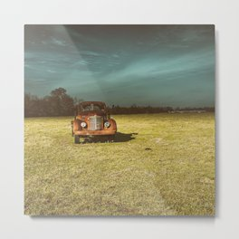 Lost In Time Truck Travel Metal Print