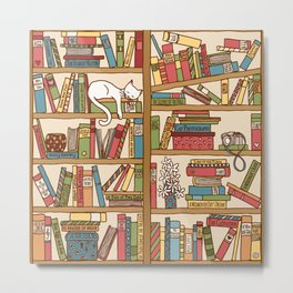 Bookshelf No. 1 Metal Print