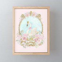 The shabby Swan Framed Mini Art Print