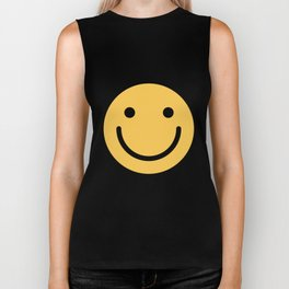 Smiley Face   Cute Simple Smiling Happy Face Biker Tank