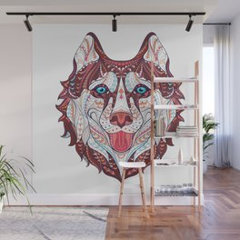 Husky Design Wall Mural
