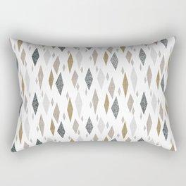 Danish Diamond Mid-Century Geometric Print Tan Rectangular Pillow