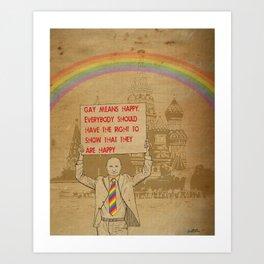 Gay means happy Art Print