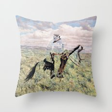 The Unknown Rider in Death Rides The Pecos Throw Pillow