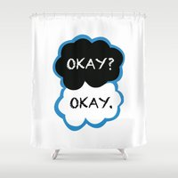 fault in our stars Shower Curtains featuring Okay? Okay. (The Fault in Our Stars) by All Things M