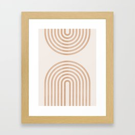 Rainbow lines Framed Art Print