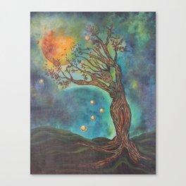 Goddess Bridget Surrealist Acrylic Painting Canvas Print