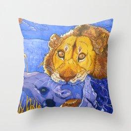 Complimentary Killer Throw Pillow