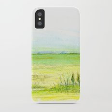 Green meadow Slim Case iPhone X