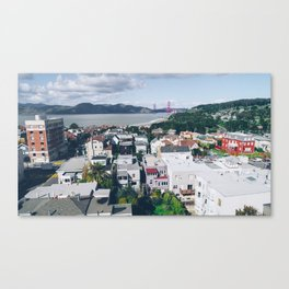 View of The City from above my Friends Apartment Canvas Print