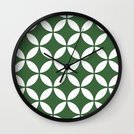Palm Springs Screen: Kelly Green Wall Clock