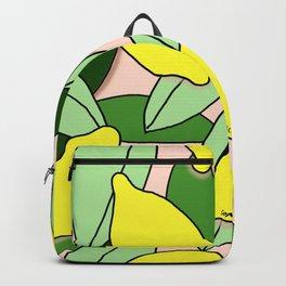 Lemons - Lemon Pattern - January Backpack