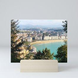 La Concha de San Sebastián Mini Art Print