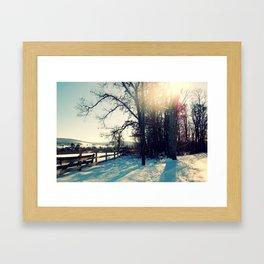 Winter's Blanket Framed Art Print