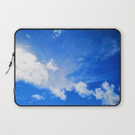 blue cloudy sky std Laptop Sleeve