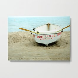 Beach boat Metal Print