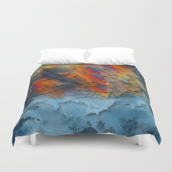 Diagonal Rainbow Redux Duvet Cover