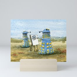 Dalek Painting Mini Art Print