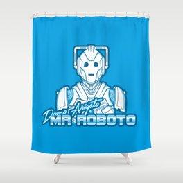 Domo Arigato Mr. Cyberman Shower Curtain
