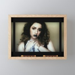 Trapped in the Screen Framed Mini Art Print