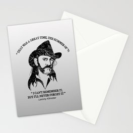 Lemmy quote Stationery Cards