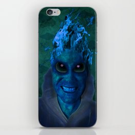 BLUE PLANET ALIEN (Us And Them) iPhone Skin
