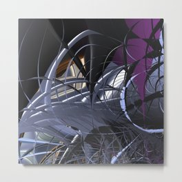 Messy entangled abstract matter Metal Print