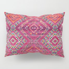 N118 - Pink Colored Oriental Traditional Bohemian Moroccan Artwork. Pillow Sham