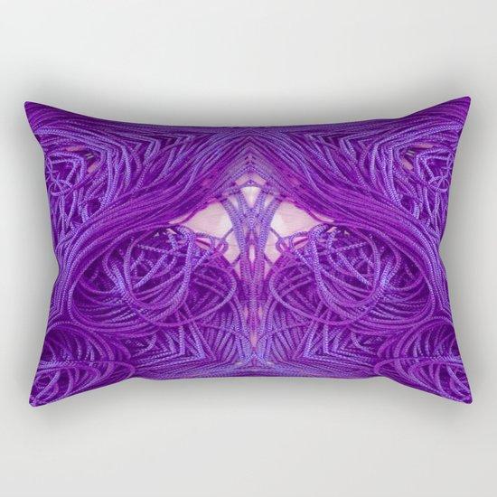 Purple Coils Rectangular Pillow