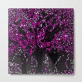 Trees Abstract Dots Metal Print