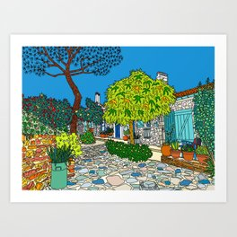 Colorful Collioure, France Art Print