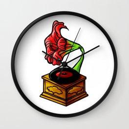 amaryllis gramophone Wall Clock