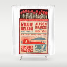 Willie Nelson And Family   Shower Curtain