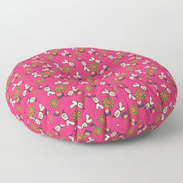 clown ghost pattern pink Floor Pillow