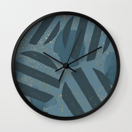 Blueprint and  Watercolor Texture 4 Wall Clock