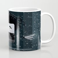 edward scissorhands Mugs featuring Edward Scissorhands by Francesco Dibattista