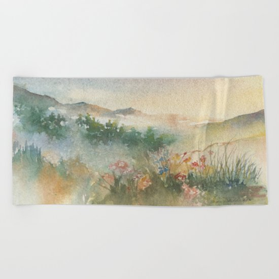 A Foothill Spring Beach Towel
