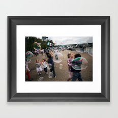 bubbles at the tate Framed Art Print